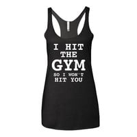 Workout Shirts I Hit The Gym Workout Shirt Racerback Gym Tank Workout Tank Work Out Clothes Workout Clothes Work Out Tee Gym Tank W47