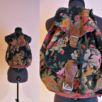 1980's Hippie Floral Backpack