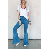 3BN Janis Bell Bottom Jeans - Light Wash