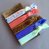 The Kenzie Hair Tie-Ponytail Holder Collection - 5 Elastic Hair Ties by Elastic Hair Bandz on Etsy
