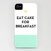 Eat Cake for Breakfast - Kate Spade Inspired iPhone & iPod Case by Rachel Additon