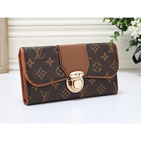 LV Fashion Multicolor Printed Handbag Shopping Bag Brown
