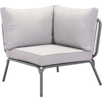 Pier Outdoor Corner Single Lounge Chair, Gray
