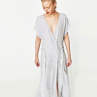 LONG STRIPED DRESSDETAILS