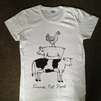WOMENS Friend Not Food Vegan/Vegetarian T-shirt