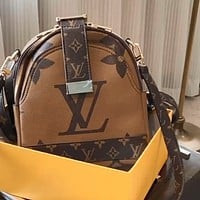 LV 2020 New Vintage Presbyopia Women's Backpack Bag