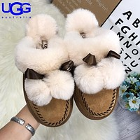 UGG fashionable ladies' casual slippers are hot sellers of velour covered sandals #4
