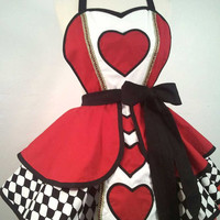 Queen Of Hearts Pin Up Costume Apron