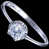 Silver ring, CZ, engagement ring