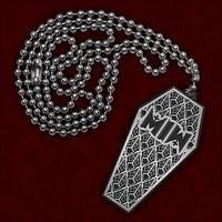Coffin Metal Necklace : FEAR : MerchNOW - Your Favorite Band Merch, Music and More