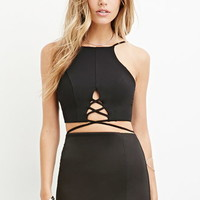 Crisscross-Cutout Cropped Cami