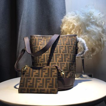Kuyou Gb5988 Dior Brown Buffel Bag In Dior Oblique Canvas And  Coin Card Holder