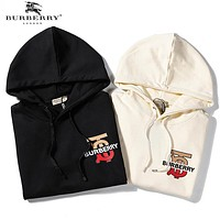 BURBERRY Autumn Winter Fashion Women Men Hooded Sweater Sweatshirt