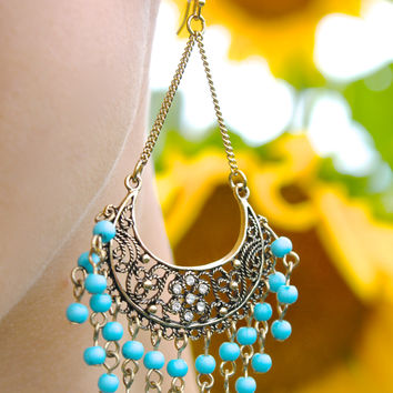 Market Daze Earrings in Mint