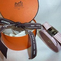 Authentic Hermes Light Purple Adjustable Kelly Bracelet Tagre™
