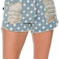 MINKPINK SUGAR MAGNOLIA SLASHED DENIM SHORT