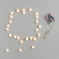 Mini Crackle Orb Micro LED Battery Operated String Lights