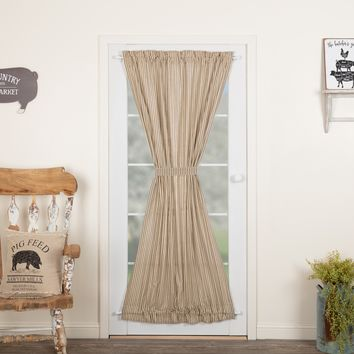 Sawyer Mill Charcoal Ticking Stripe Door Panel Curtain