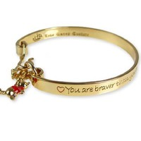 Disney Couture Winnie the Pooh Bangle Bracelet - Yellow Gold Plated