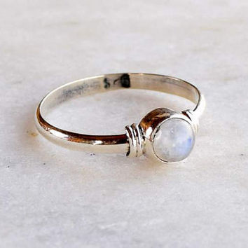 Moonstone Midi Ring, Stone Ring, Silver Ring, Rainbow Moonstone Ring, 925 Sterling Silver ring,Silver ring, Size 2, 3, 4, 5, 6, 7, 8, 9, 10