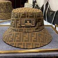 FENDI Retro Fashion Women Men Jacquard Sun Cap Fisherman Hat