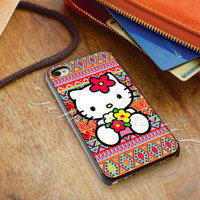 Hello kitty On Aztec - for iPhone 4/4s, iPhone 5/5S/5C, Samsung S3 i9300, Samsung S4 i9500 *ojoturuwaecok*