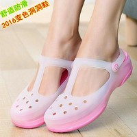 Summer Candy color print hole slipper clogs women sandals women's beach home jelly san