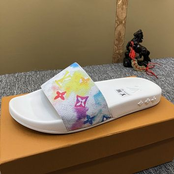Louis Vuitton LV summer new outer wear sandals slippers shoes