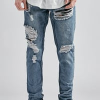 Young and Reckless Kenmore Destroyed Skinny Jeans at PacSun.com