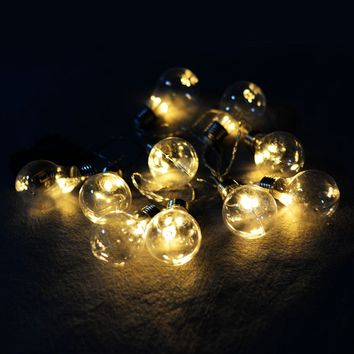 String Ball Decor Lights Christmas 10 LED
