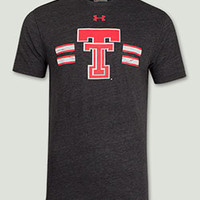 Texas Tech Under Armour Legacy Throwback Charcoal Tee Shirt