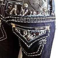 MISS ME JEANS WOMENS BLING ZEBRA SEQUINS SPARKLE MISS ME SKINNY SIZE 24/25 HOT!!