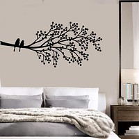 Vinyl Wall Decal Tree Branch Birds Nature House Interior Bedroom Stickers Unique Gift (ig3965)