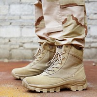 Men Military Tactical Boots Velour Special Force Desert Ankle Combat Boots Safety Outdoor Hiking Shoes Army Boots Erkek Ayakkab