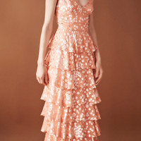 Tiered Gown With Ruffle Detail | Moda Operandi