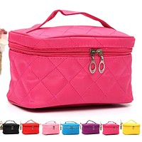 Fashion Lady Organizer Bag Multi Functional Cosmetic Storage Bags Women Makeup Bag Insert With Pockets Toiletry Pouch LT
