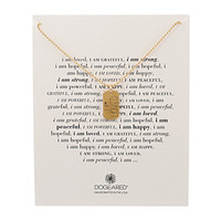 Dogeared I Am Loved Large Dogtag Necklace Gold Dipped - Zappos.com Free Shipping BOTH Ways