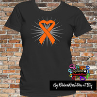 Leukemia Heart Ribbon (Kidney Cancer, Multiple Sclerosis, COPD and RSD)