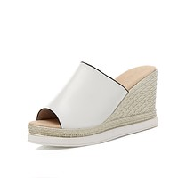 Women's Cut-out Platform Wedge Sandals