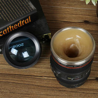 Camera Lens Automatic Stir Coffee Mug Gift