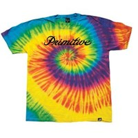 Primitive Signature Script Tie Dye T-Shirt - Men's at CCS
