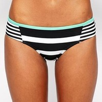 Hobie | Hobie Surfin Stripe Boycut Hipster Bikini Bottoms at ASOS