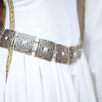 """Brass Women's Etched Belt """"The Accolade"""""""