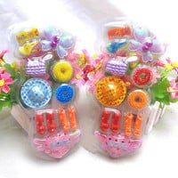 Best Blister Toy for Barbie Doll Accessories Shoes Hair Clips Bag Kids HUUS