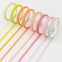5mmX7m Cute Candy colors rainbow  Kawaii Washi Tapes Washi Tape Diy Colorful Adhesive Tape Sticker Stationery School Supplies