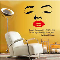 New product Monroe sitting room bedroom setting wall decoration The third generation environmental protection wall stickers SM6