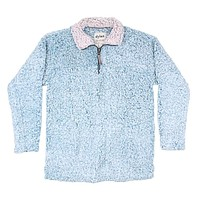 Frosty Tipped Women's Stadium Pullover in Aqua by True Grit (Dylan)