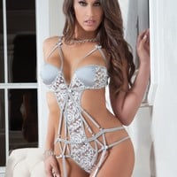 Strappy Chantilly Teddy Set