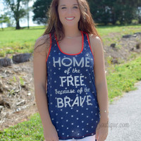 Home of The Free -Blue/Red Stripes(Preorder)