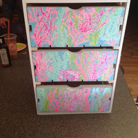 Lilly Pulitzer Inspired Set of Drawers
